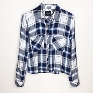 Rails | Dylan Plaid Flannel Shirt in Sapphire